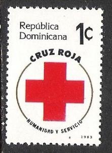 DOMINICAN REPUBLIC RA94 MNH RED CROSS N256