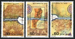 Israel 975-977, MNH. Exploration of the Holy Land, 19th cent. 1987