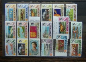 Jersey 1970 Decimal Currency set to 50p MNH SG42 - SG56