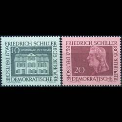 DDR 1959 - Scott# 467-8 Poet Schiller Set of 2 NH