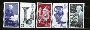 J22877 JLstamps 1972 sweden sets mnh #981-5 designs