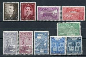 Romania - Sc# 491 - 498 + 504 & 505 MH     -     Lot 0420187
