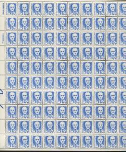Pane of 100 USA Stamps 2188a American Neurosurgeon Harvey Cushing Price $485