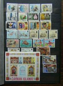 Cayman Islands Range of Commemorative issues with high values Used
