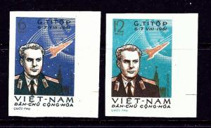 North Vietnam 174-75 Issued without Gum 1961 Imperf issues