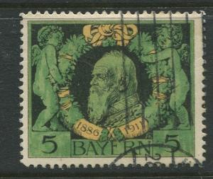 Bavaria -Scott 92 - Prince Regent Luitpold -1911 - Used -Single 5pf Stamp