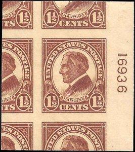 576 Mint,OG,NH... SCV $2.70... Plate# single... Superb