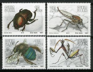 South West Africa SWA 1987 - Insects,   MNH set # 582-585