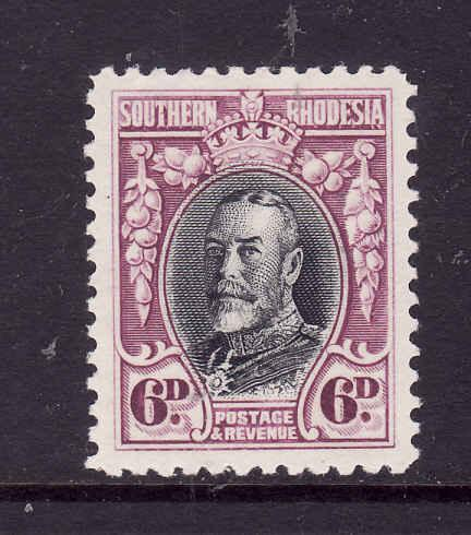 Southern Rhodesia-Sc#22-unused 6p rose lilac & black KGV-perf 12-1931-