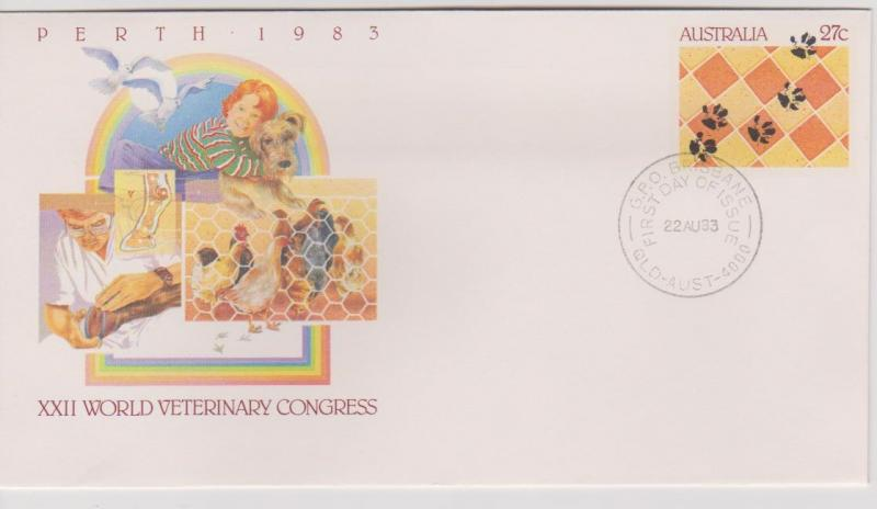 Australia 1983 World Vet Congress Pre-stamped Envelope First Day of Issue