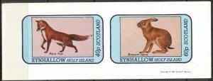 {E137} Eynhallow Scotland Fox Rabbits Sh.2 Imperf. MNH Cinderella !!