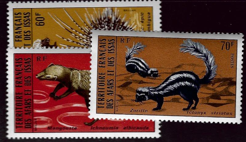 Afars & Issas SC#404-406 MNH VF. SCV$15.75..Worth a Close look!!