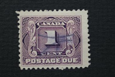 Canada #J1 1 Cent Postage Due 1906 CV $4.25