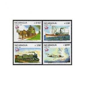 Nicaragua 1157-1158,C1005-1006,MNH.Michel 2268-2271. UPU Membership,100,1982.
