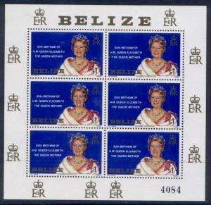 Belize 523 sheet MNH Queen Mother 80th Birthday