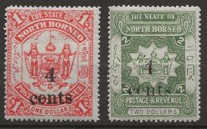 North Borneo 99-100 MLH VF 1899 SCV $12.50 (jr)