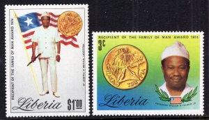 Liberia 889-890 MNH VF