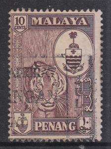 Malaya Penang 1960 Sc 61 10c Used