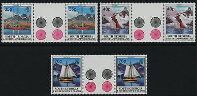 South Georgia 201-3 Gutter Pairs MNH Boats