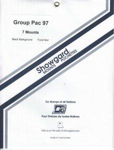 SHOWGARD GROUP PACIFIC 97 (7) BLACK MOUNTS RETAIL PRICE $5.75