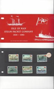 Isle of Man 168-73 Steam Packet Company MNH Presentation Folder