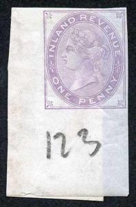 1d Lilac Postal Fiscal SGF20-22 Imprimatur Plate 123