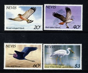 NEVIS QE II 1985 The Complete Local Hawks and Herons Set SG 265 to SG 268 MNH