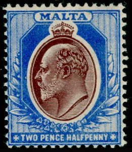 MALTA SG52, 2½d maroon & blue, LH MINT. Cat £35.