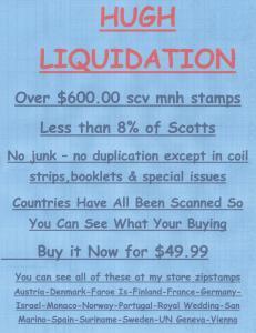 LIQUIDATION MNH Over $600.00 scv for $49.99 Details & Scans Below