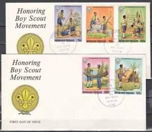 Togo, Scott cat. 1131, C464-C467. 75th Scout Anniv., IMPERF. 2 First day covers.