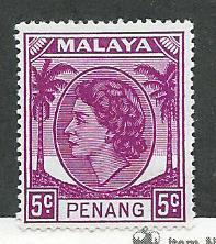 Malaya -Penang #32   (H) CV $2.25