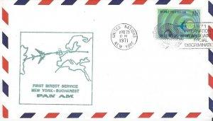 UNNY First Flight Bucharest Pan Am  APR 28, 1971