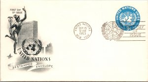 United Nations, New York, Postal Stationary, Worldwide First Day Cover