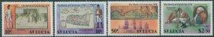 St Lucia 1978 SG478-481 Battle of Cul-de-Sac set MNH