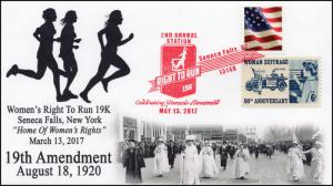 17-113, 2017, Women's Right To Run, Seneca Falls NY, Women's Rights, Event Cover