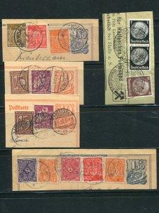 Germany   used on pieces   scarce  - Lakeshore Philatelics