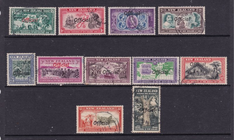 New Zealand the 1940 Official set used