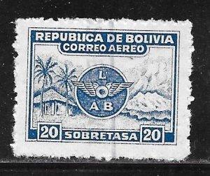 Bolivia C19: 20c Airline Logo, Landscape, used, F-VF