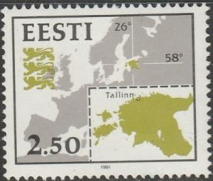 Estonia, #210 Unused , From 1991