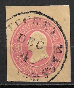 1861 USA U35  3¢ Washington cut square used.