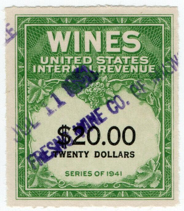 (I.B) US Revenue : Wines Duty $20