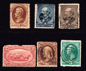 USA STAMP 19th OLD USED STAMP STAMPS COLLECTION LOT LOT