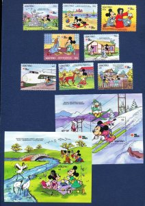 LESOTHO - 807-816 - VF MNH - Disney - Mickey Mouse visits Japan -