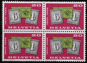 Switzerland, Bolck of four Sc 492, mh, og