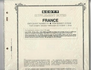 Scott France Supplement #41 2006