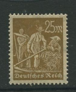 Germany -Scott 225 - Definitive Issues -1922 MH - Wmk 126 - Single 25m Stamp