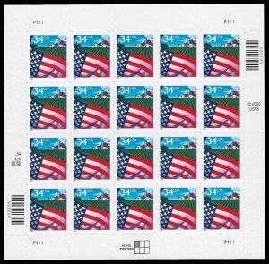PCBstamps  US #3470 Sheet $6.40(20x34c)Flag over Farm, 2001, MNH, (1)