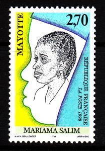 Mayotte MNH Scott #108 2.70fr Mariama Salim