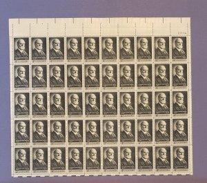 1195, Charles Evans Hughes, Mint Sheet, CV $13.00