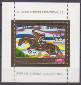 1976 Equatorial Guinea 874/B226gold 1976 Olympic Games in Montreal 8,50 €